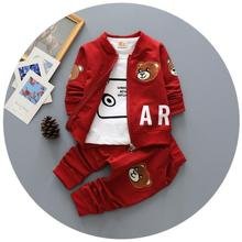 4-24M 2016 Baby Boys Clothing Set For Boys Children Toddler Boy Baby Clothes  Baby Tracksuit  Outfits Sports Suit Baby Sets 3pcs