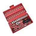 46 peças/set de kit de reparação de automóveis reparação reparação conjunto de ferramentas de hardware chave de soquete combinação do condutor do veículo