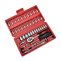 46 stuks/set van auto reparatie kit dopsleutel combinatie voertuig dirigent reparatie reparatie hardware tool set