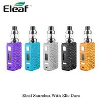 Электронные сигареты Eleaf Saurobox 220 Вт поле Mod с Элло Дуро Sub Ом танк распылителя 6,5 мл ёмкость двойной S Vape испаритель