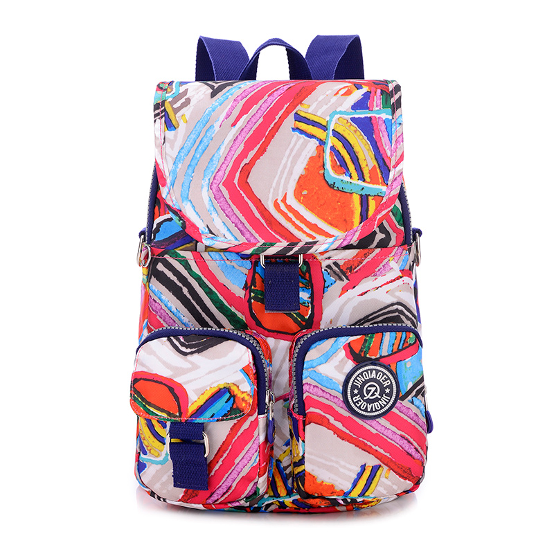 Girls Multifunction Water Resistant Nylon Kanken Top Handle Handbag Crossbody Satchel Purse Backpack