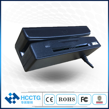 Factory Price MSR IC Chip Card Combo USB Hub 2.0 Magnetic Card Reader HCC-100