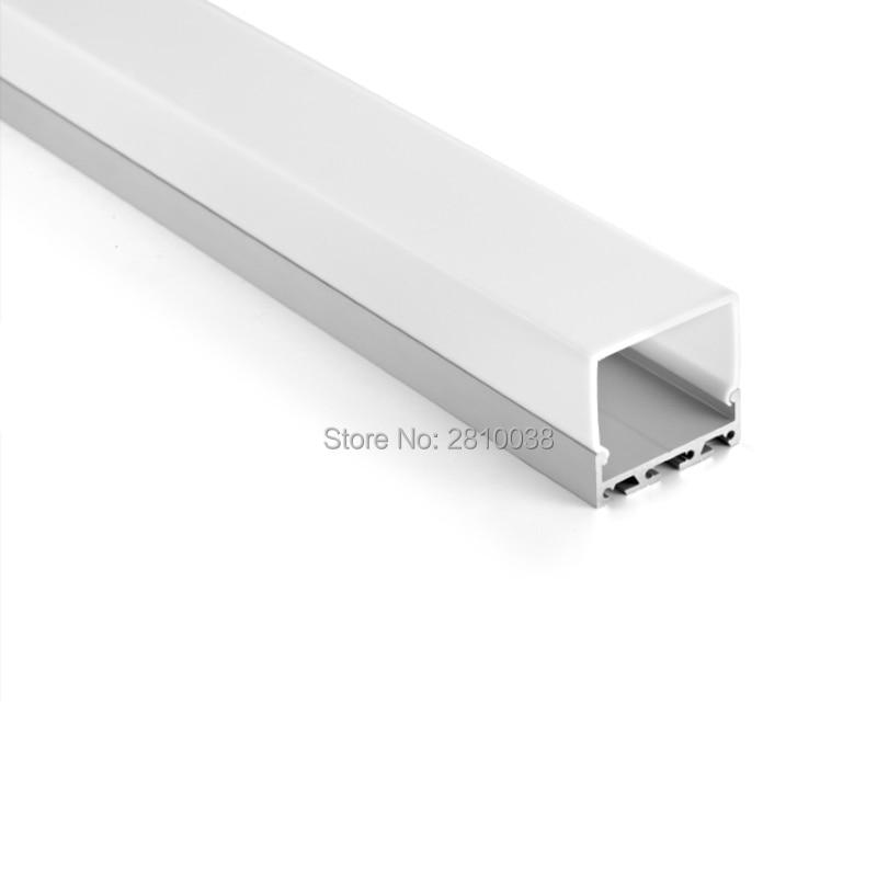 10 X1 M Sets / Lot T3-T8 härdad aluminiumprofil för ledade remsor - LED-belysning
