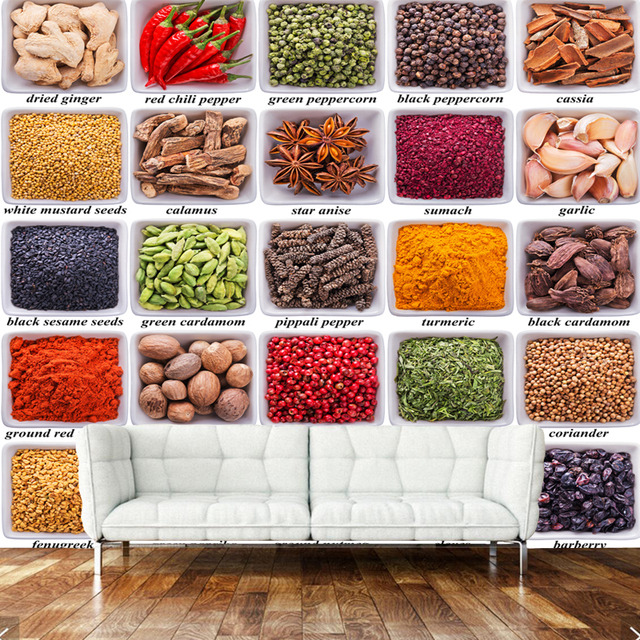 3D moderno restaurante, especias, decoración para el hogar wallpaper ...
