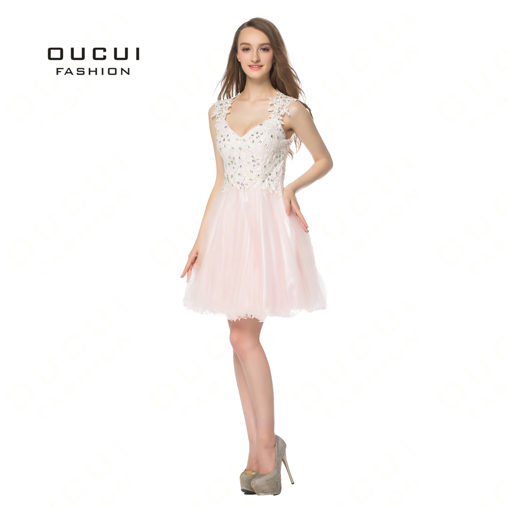08b7b21c830 Real Photos Tulle Appliques Homecoming Dresses Party Off White Short Prom  Dress Evening Gown Elegant BL1809