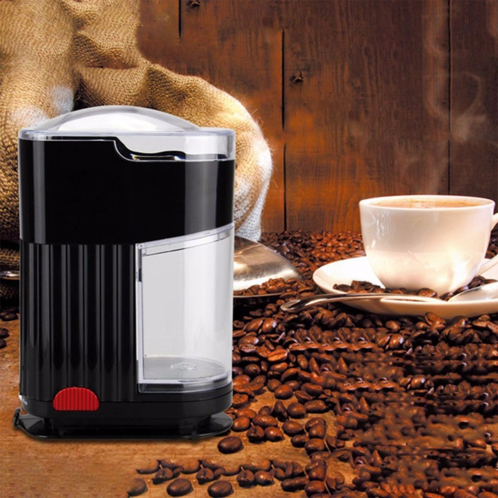 Household Electric Coffee Grinder Bean Spice Maker Grinding Machine EU Plug portable 150w electronic coffee grinder silver black ac 230v eu plug