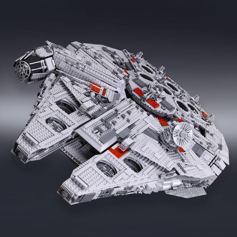 IN MAGAZZINO H & HXY 05033 5265 Pcs Star Finale LEPIN Modello delle Collettore di wars Millennium Falcon Blocchi di Costruzione mattoni Regalo 10179