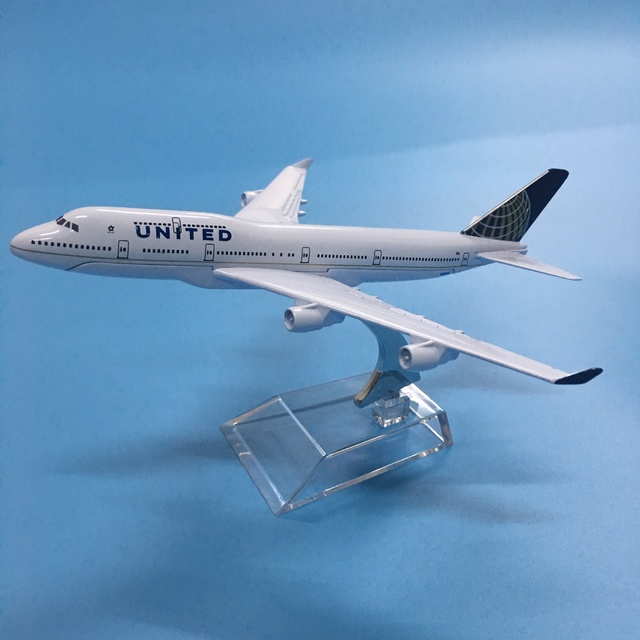 American Air United Airlines Boeing 747 B747 400 Airways 16cm Alloy Metal Plane Model Aircraft Airplane Model w Stand Gift 6
