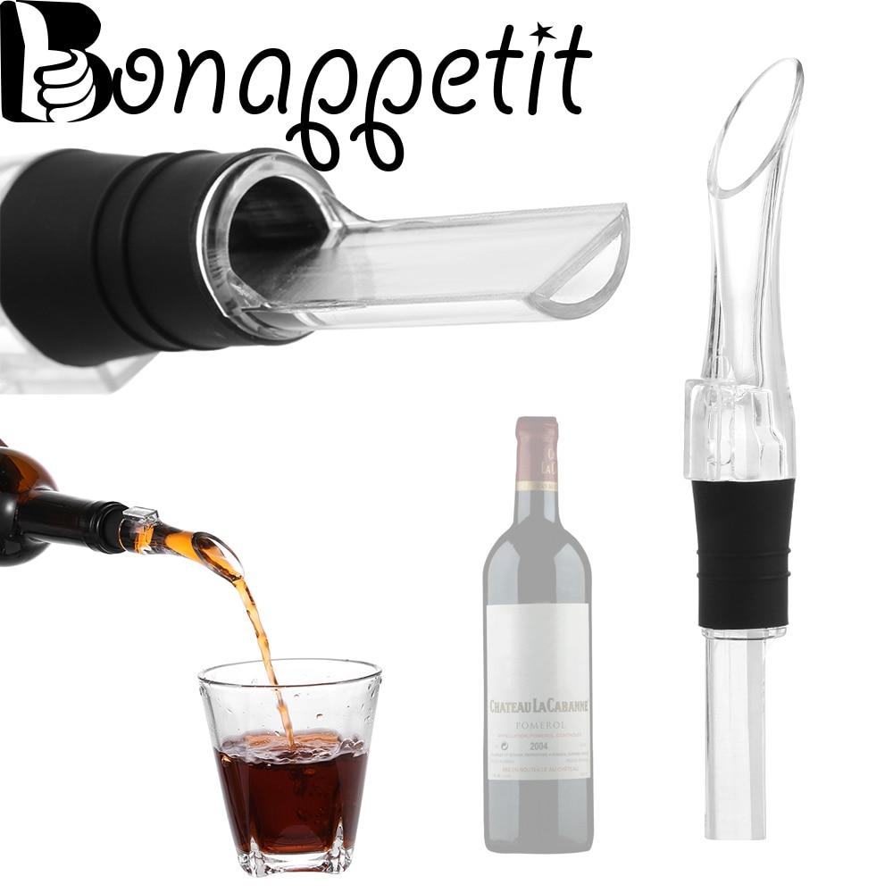 1 Pc Hot En Nieuwe Acryl Beluchten Schenker Decanter Wijn Beluchter Schenktuit Fles Schenker Nieuwe Draagbare Bar Tool