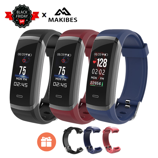 [STOCK] Makibes HR3 Colorful Screen Smart Bracelet Always-on heart rate monitor IP67 Health Tracker Wristband for Android iOS