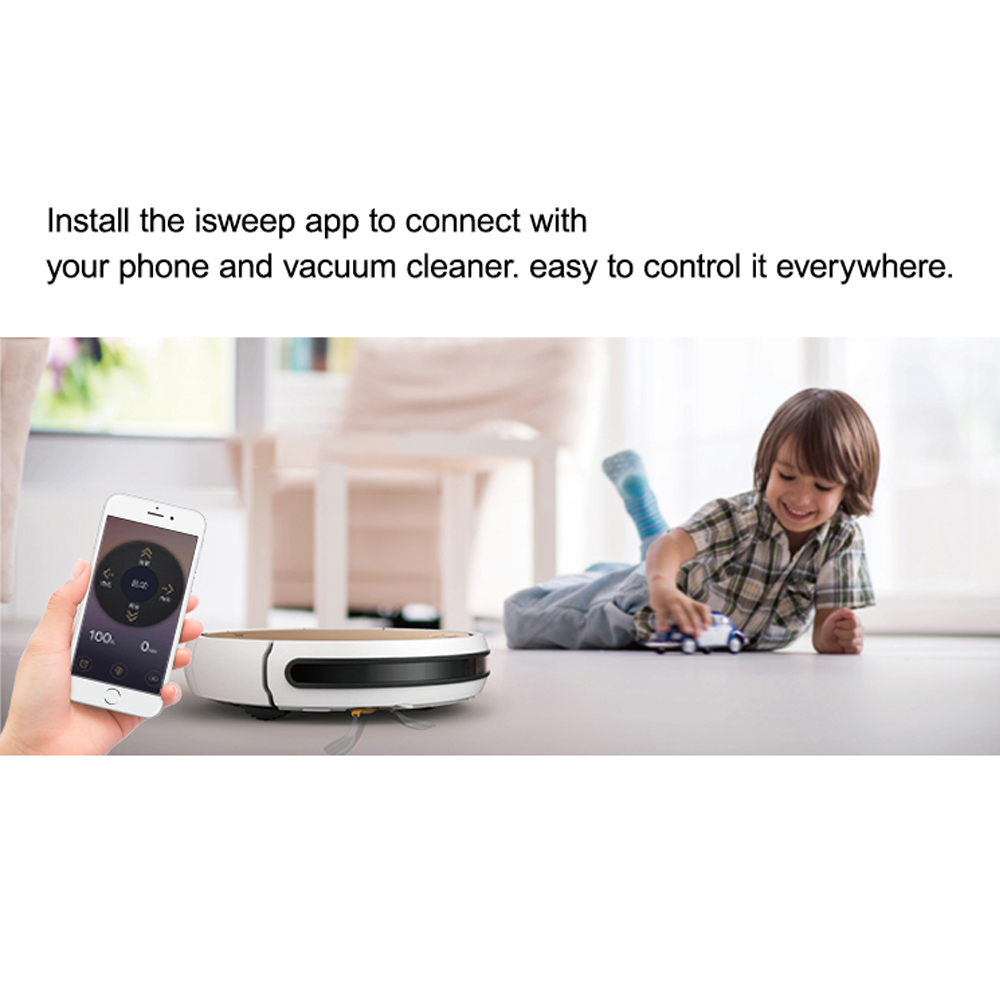 Isweep X3 робот-пылесос с управлением через приложение 1800 PA Влажная и сухая домашняя уборочная машина с автоматической подзарядкой, штепсельна...