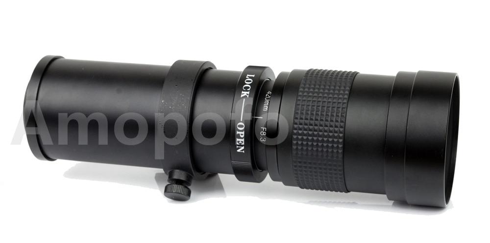 Amopofo,420 800mm F/8.3 16 Super Telephoto Zoom Lens Fujifilm X Mount Fuji X Pro1 X M1 X E1 X E2 X E1 Camera