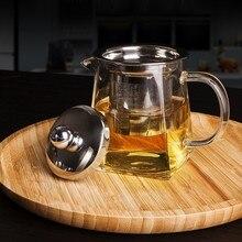 350 мл 500 мл 750 мл высокотемпературный термостойкий стеклянный чайник с фильтром для заварки чая молочный цветочный чайник стеклянный квадратный чайник