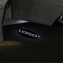 цена на JingXiangFeng 2 pcs 5W Case For jeep For mahindra Car Door Welcome Light Car LED Laser Logo Ghost Shadow Light Warning lights