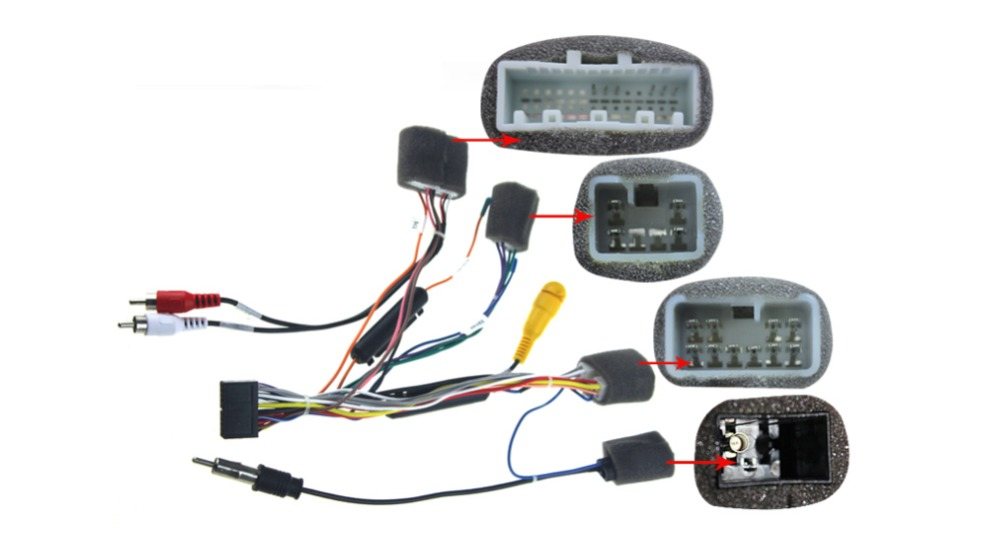 Special wiring harness for Toyota HILUX ISO harness car radio power