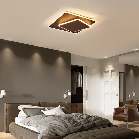 ultra fino marrom branco rotatable modernas luzes