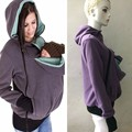Mujeres Maternidad Canguro Mewgaroo Duo de Mascotas Con Capucha Top Porta Bebé Titular Chaqueta Suéteres Cálidos Sudaderas Bebé Llevan Abrigos