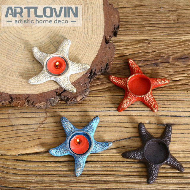 Aliexpress Buy Nautical Sea Star Candle Holders For Wedding