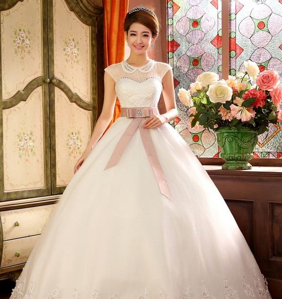 2014 new arriving korea style wedding dress high quality ...