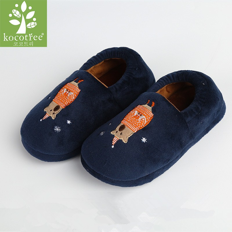 0355a7efb55 Kocotree Winter Kids Slippers Boys Girls Household Cotton Shoes Brown Bear  Wooden Floor Bedroom Baby Warm Slippers