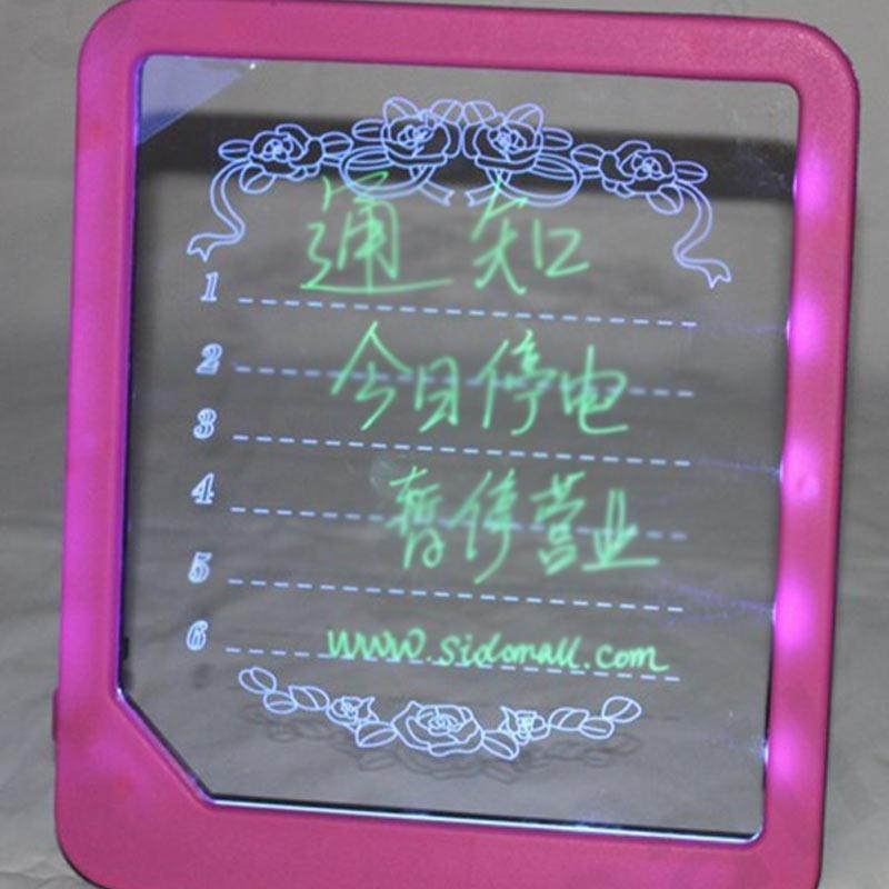 LED Light Fluorescent Writing Board Kids Electronic Luminescent Wordpad Message Board Handwriting Pad Children Toys Gift FJ88