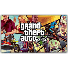 Colorful GTA Design Wall Poster