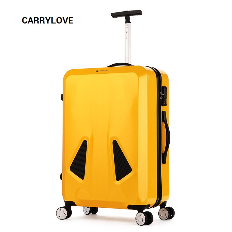 CARRYLOVE Fashion Single Pole 20/24 Inch Size ABS+ PC Rolling Luggage Spinner Brand Travel Suitcase