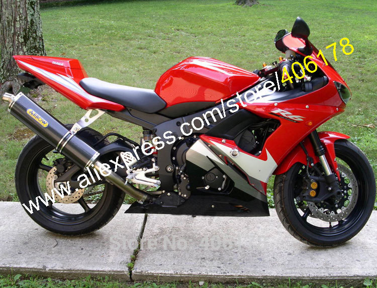 Hot Sales,Aftermarket For Yamaha Fairing YZF R6 05 YZFR6 YZF 600R6 YZF R6 2005 Red White Black Body Kit (Injection molding) hot sales for yamaha yzf r1 2007 2008 accessories yzf r1 07 08 yzf1000 black aftermarket sportbike fairing injection molding