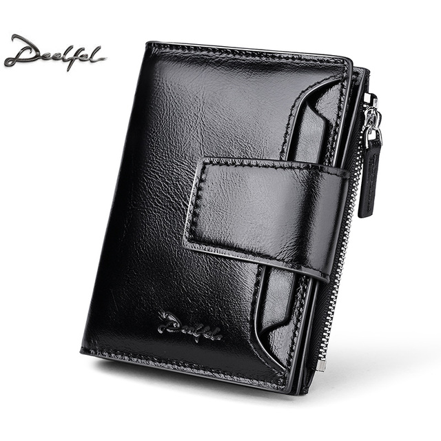 DEELFEL Genuine Leather Men Wallets