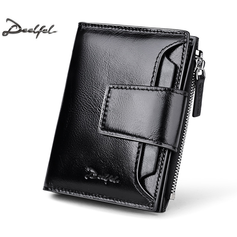 Deelfel Genuine Cow Leather Men Wallet Fashion Coin Pocket Small Vintage Men Walet Male Short Card Holder Purse Brand Wallets men wallet male cowhide genuine leather purse money clutch card holder coin short crazy horse photo fashion 2017 male wallets