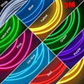 3M 9-color Flexible Moulding EL Neon Glow Lighting Rope Strip With Fin For Car Decoration #J-3269