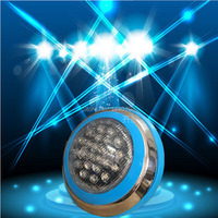 Outdoor Deep Underwater Lights 24W RGB LED Swimming Pool Light Wall Mounted IP68 For Fountains Ponds Under Water Lamp AC12V