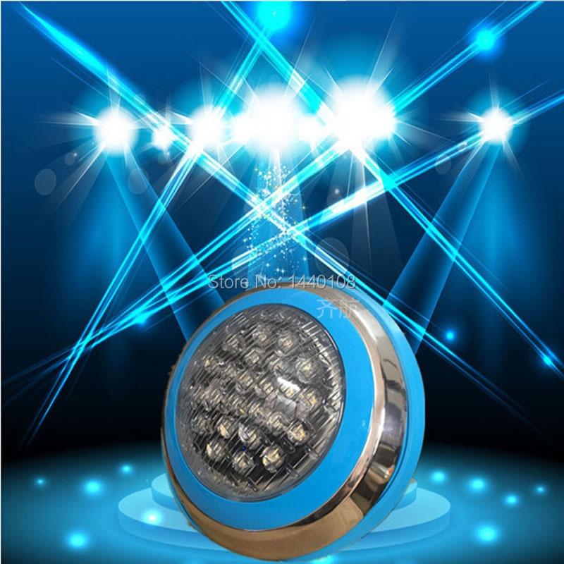 Outdoor Tiefe Unterwasser Lichter 24W RGB LED Pool Licht Wand Montiert IP68 Für Brunnen Teiche Unter Wasser Lampe AC12V