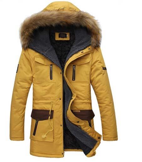 Novo 2017 inverno homens do revestimento de espessura amassado gola de pele casaco de algodão hoodies casaco fino patchwork parkas casual neve quente 737