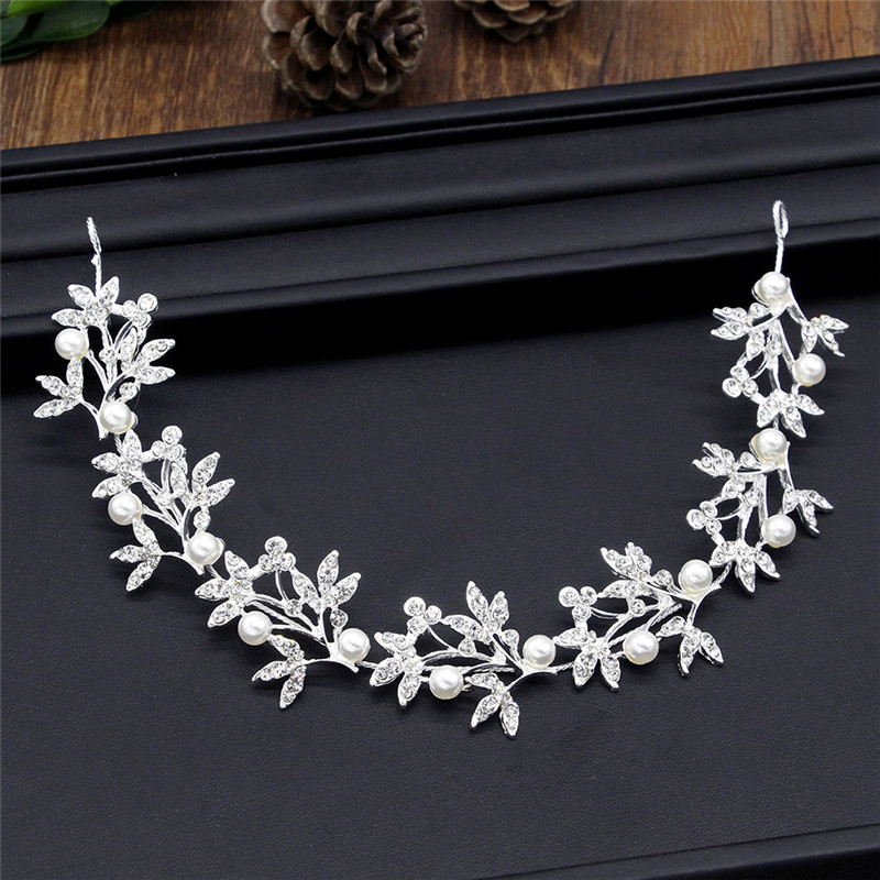 Leaf Headband Baroque Bridal Hairbands Crown Headpiece Headdress Wedding Hair Accessories Bride Tiara Jewelry