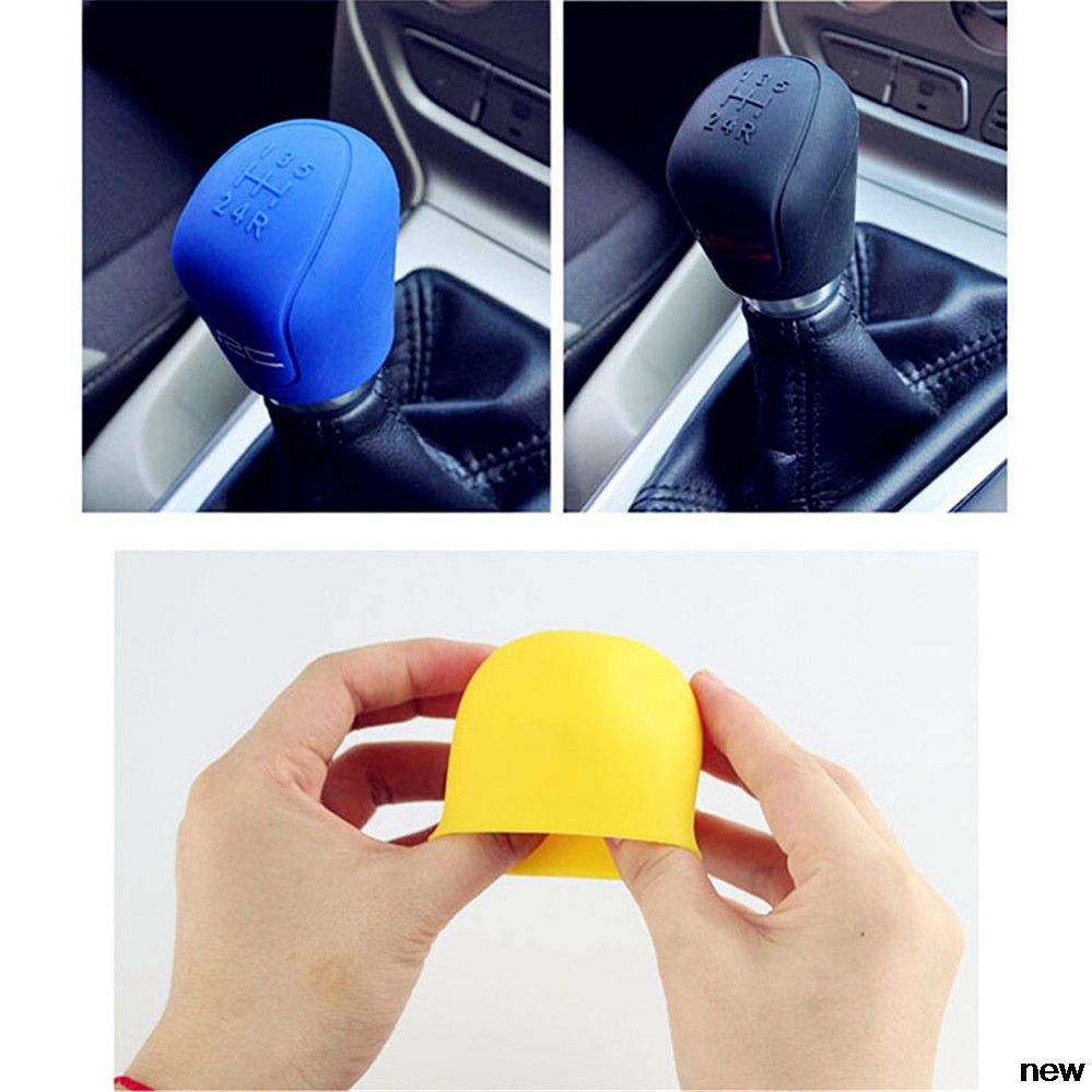 Car Suv Rubber Gear Shift Knob Shifter Cover Stall For Volkswagen Vw B6 Jetta Mk5 Mk6 Any Cars Phaeton 4.2 Eos 3.2 V6 Latest Technology