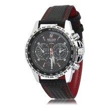 MEGIR 2017 Nuevos Deportes Relojes de Cuarzo para Los Hombres Ocasionales de LA PU de Cuero Casual de Negocios Reloj de Cuarzo Hombre Reloj Relogio masculino