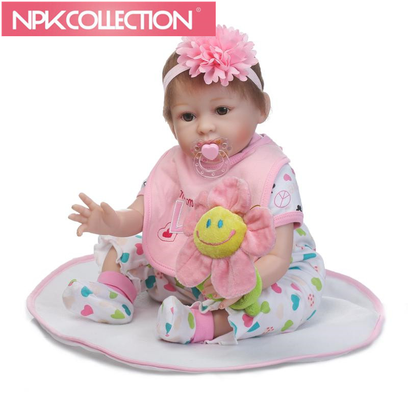 New 55cm Silicone Reborn Baby Doll Toys Lovely Princess Babies Dolls Birthday Present Xmas Gift Girls Brinquedos  N234-5 high end handmade chinese dolls ancient costume tang princess jin yang jointed doll articulated kids toys girls birthday gift