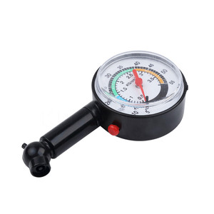Image 3 - Verificador da pressão de ar da roda do medidor de discagem do medidor de pressão dos pneus 0 50 psi para o caminhão do carro do motor automático