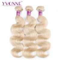 YVONNE 613 Human Hair Weave Body Wave Brazilian Blonde Hair Bundles