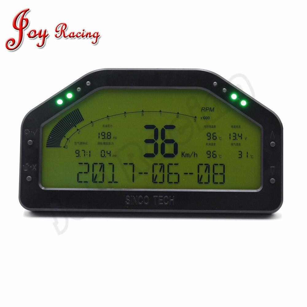 6.5 pouces Dash Course Jauge D'affichage CAPTEUR KIT Tableau de Bord LCD Écran Étanche 9000 rpm Rallye Jauge