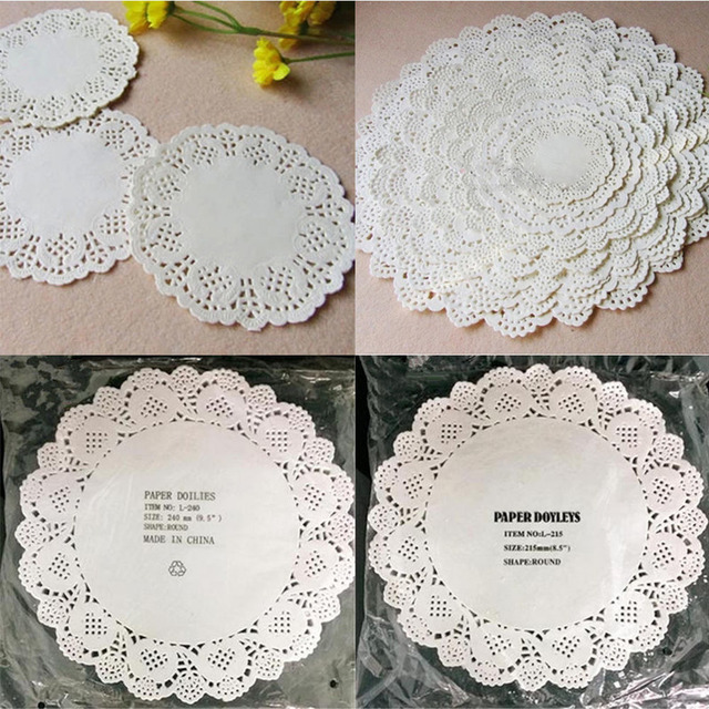80pcslot Diy White Round Lace Paper Doilies Craft Cake Placemat