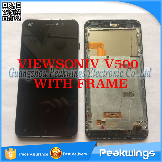 Original Touch Screen For ViewSonic V500 V500-3 Coship F2 LCD Display+Digitizer Panel Screen Assembly with Frame
