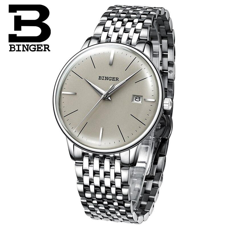 Nieuwe BINGER Mechanisch Horloge Mannen Merk Luxe heren Automatische Horloges Saffier Polshorloge Mannelijke Waterdicht Reloj Hombre B5078M 4-in Mechanische Horloges van Horloges op  Groep 2