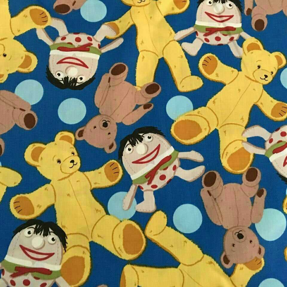 50*145cm Cartoon Bear Cotton Fabric For Sewing DIY Quarter Quilting Patchwork Doll baby Bedding Patchwork