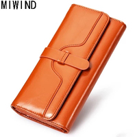 Brand Womens Wallets Genuine Leather Women Zipper Large capacity Purse Cow Leather Holders Lady Purse Female Wallets TSD1181