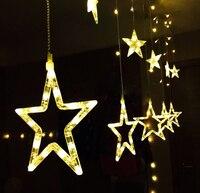 Ledโคมไฟขนาดเล็กเทศกาลคริสต์มาสไฟสตริงแสงดาวม่านบาร์KTVนีออนตกแต่งโคมไฟ