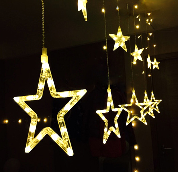 Led Small Lantern Festival Christmas Lights String Stars