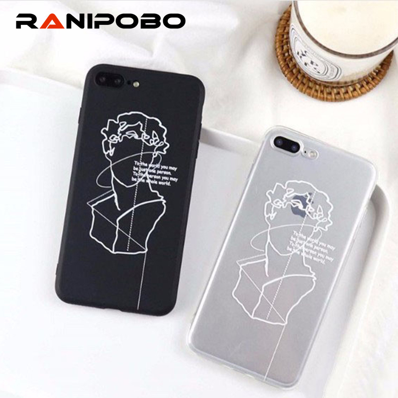 Fashion character avatar Phone Case For iPhone 6 6S 7 8 Plus X Back Cover Soft TPU Transparent Cases