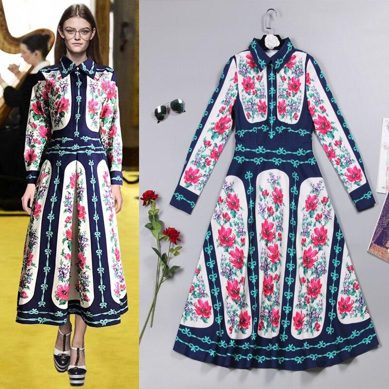 새로운 드레스 2018 유럽 여름 역 패션 인쇄의 스타일.-에서드레스부터 여성 의류 의  그룹 1